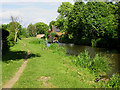 SK1513 : Coventry Canal at Fradley Bridge, Staffordshire by Roger  Kidd