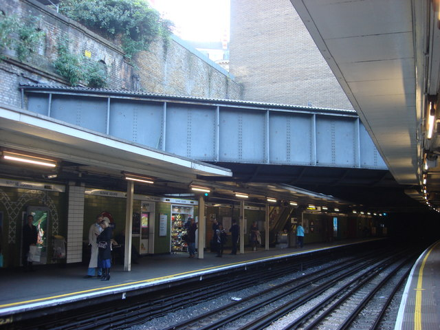 River Westbourne, Sloane Square tube station