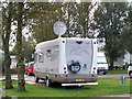 SD3434 : Fixed Satellite Dish, Hymer UK Rally, Marton Mere Holiday Village by Terry Robinson