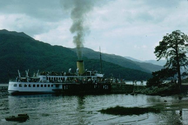 Steamer at  Rowardennan Pier