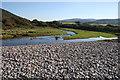 SS8948 : River Horner reaches Bossington Beach by Guy Wareham