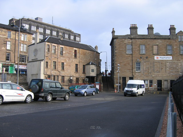 Caledonian pub (deceased) and Haymarket station