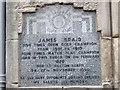 Photo of James Braid grey plaque