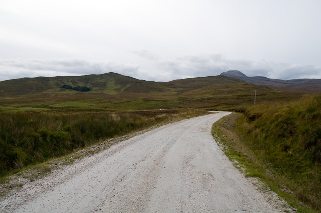 Road to Ledmore North Quarry