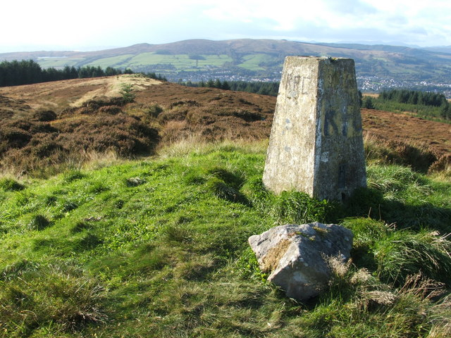 Trig point on Pappert Hill
