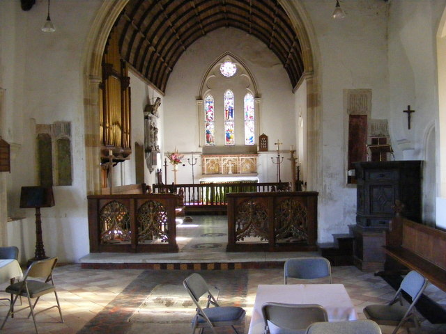 Inside St.Peter's Church,Sibton
