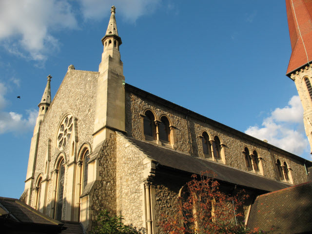 St John's church, East Dulwich: west end