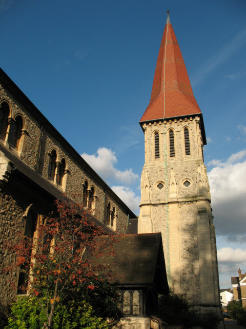 St John's church, East Dulwich:  spire