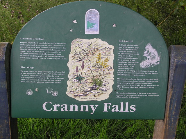Cranny Falls interpretation