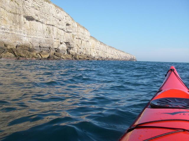 Cliffs below Round Down