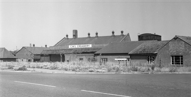 The CWS Creamery on Borough Road circa 1960.