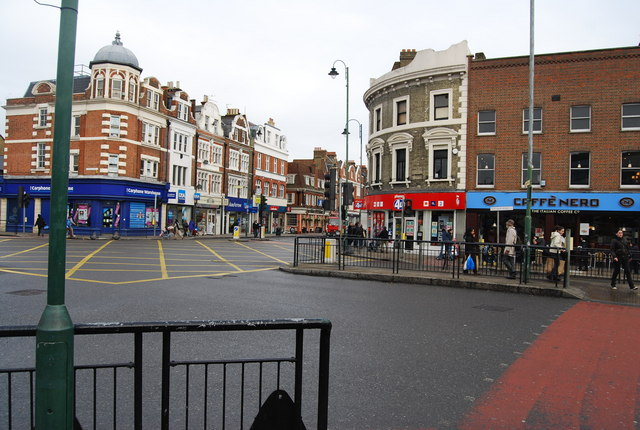 Junction of Mitcham Rd. & Tooting High St., Tooting.