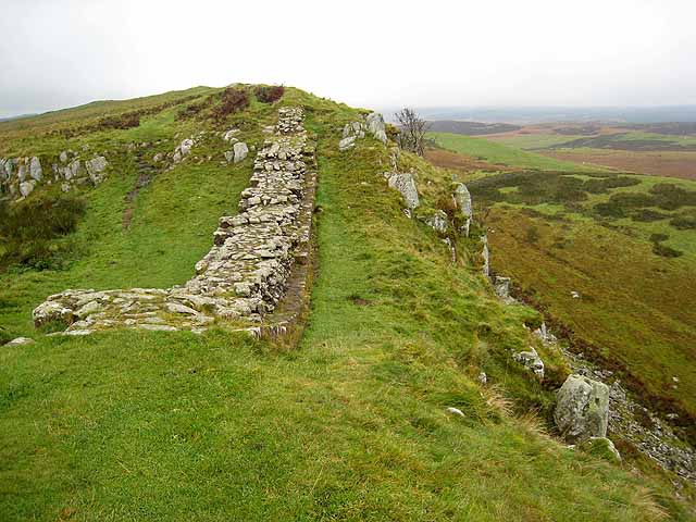 Hadrian's Wall on Sewingshields Crags