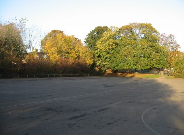 Empty school playground © Given Up :: Geograph Britain and ...