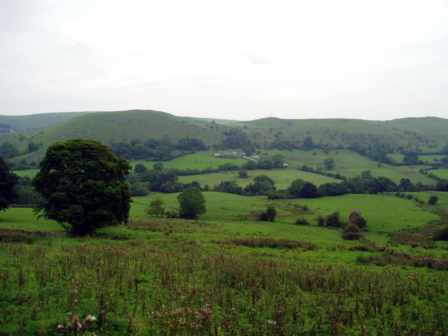 Looking across the Dove Valley towards Underhill Farm
