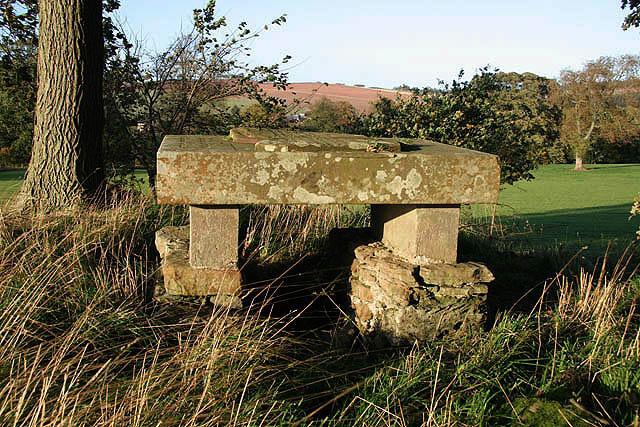 The inscribed stone on Haughhead Kip