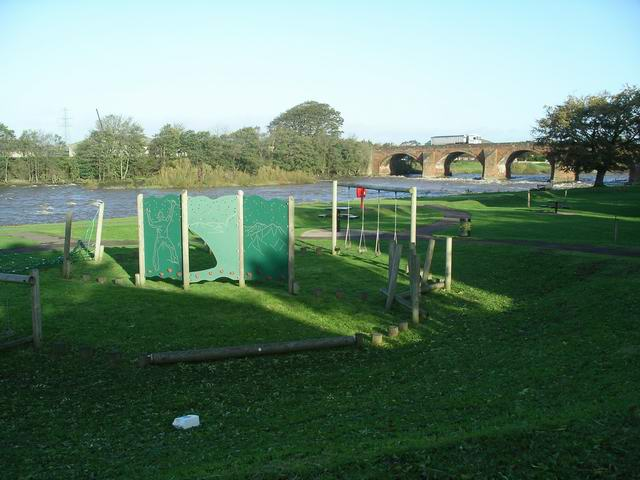 Playground beside the River Esk