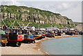 TQ8209 : Fishing fleet on the beach by Nigel Chadwick