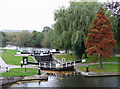 SO8170 : Stourport Wide Lock and the River Severn at Stourport by Roger  Kidd