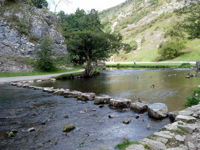 Stepping Stones from the South side of the River Dove