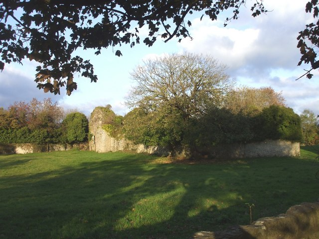 Penmark Castle, seen from the churchyard
