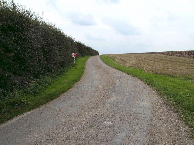 Track to Wyham House Farm