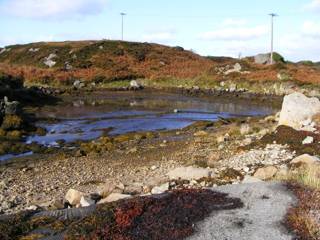 Sea inlet to the west of Dunglow on R259 - Meenmore Townland