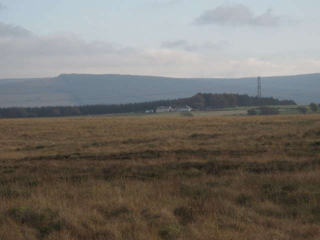 Flat and difficult to walk on moorland