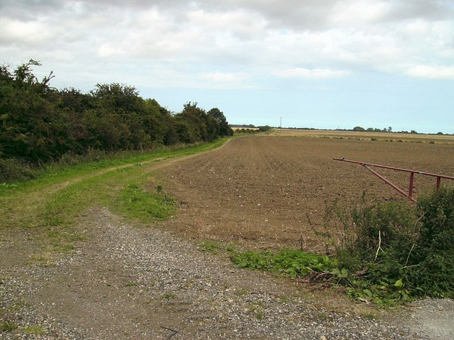 Farm track beside old railway