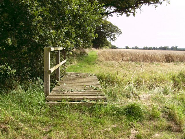 Bridge across field drain
