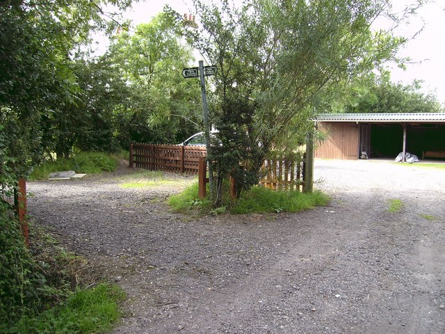 Footpath and garages