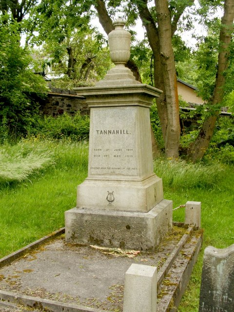 Robert Tannahill's grave