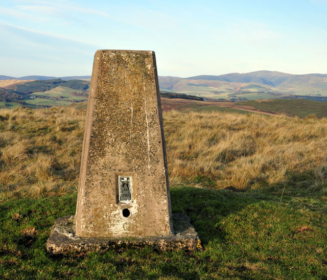 Trig point at Auchengibbert Hill