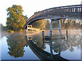 SU8384 : Footbridge over the Thames, Temple by Andrew Smith