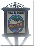 TR0033 : The Village of Hamstreet Sign by David Anstiss