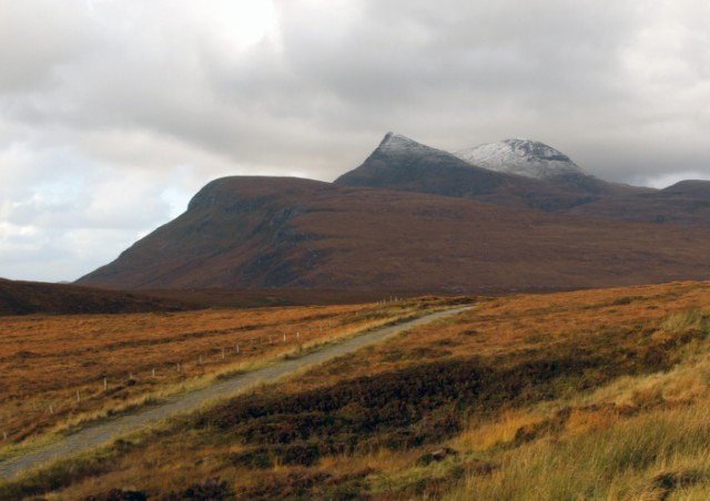 Track beside A835, Coigach
