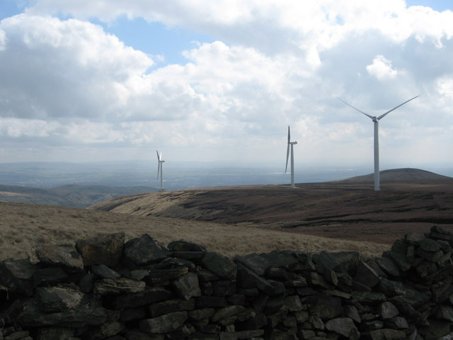 Scout Moor Wind Farm Turbine Towers