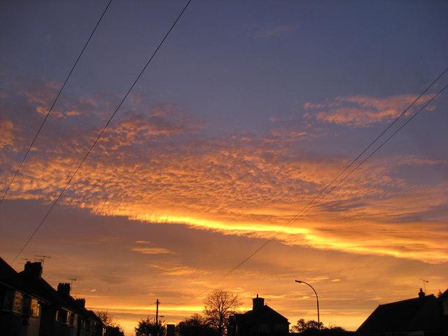 Sunrise in  Old Tupton