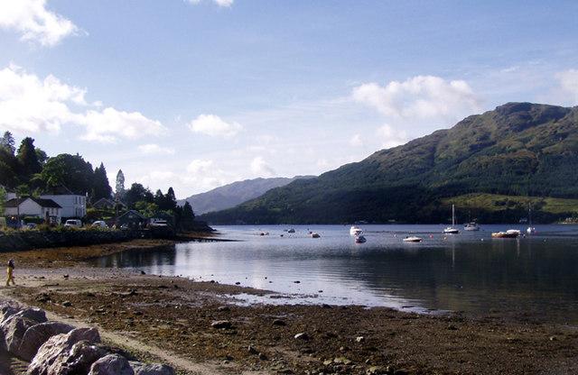 Lochgoilhead towards the sea