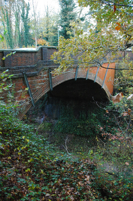 Bridge over the Worth Way, Crawley Down carrying the B2028 Turners Hill Road