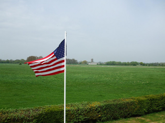 The American flag at Seething airfield