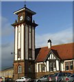 NS1968 : Wemyss Bay station tower by Thomas Nugent