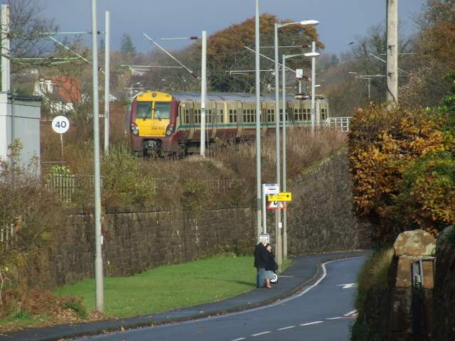 Train leaving Wemyss Bay