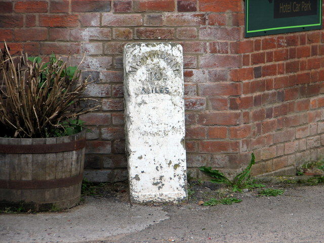 Tintern - milestone by the Wye Valley Hotel