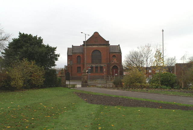 Stanley Park Church, from the park