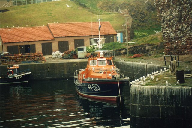 The Dunbar Lifeboat before it was moved to Torness