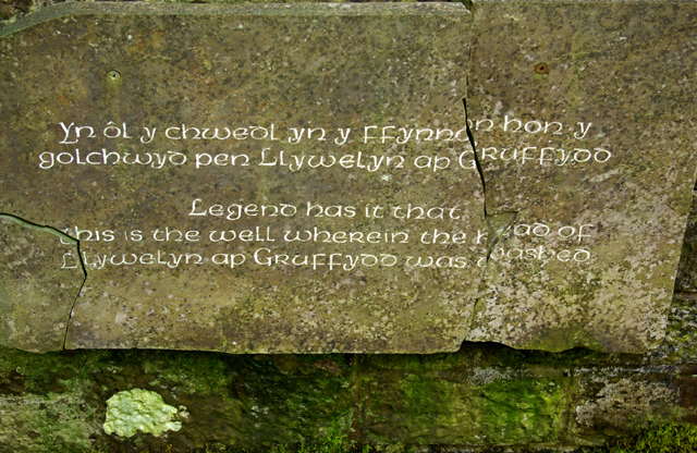 Well inscription at Ffynnon Llewelyn