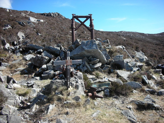 "Donegal. ""Urris Hills Air Crash"" Elevation 235 metres (770 feet)"