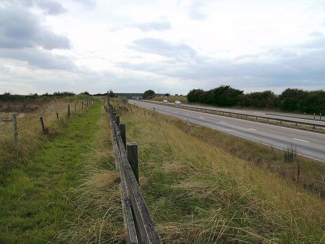 A180 westbound near Ulceby