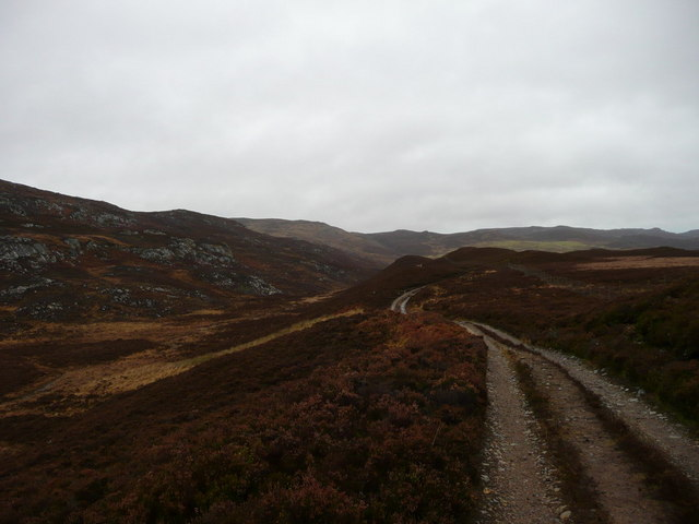 The track from Strathglass